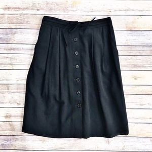 Brooks Brothers black wool skirt